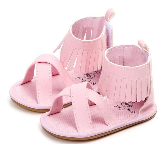2020 New Designs Baby Sandals Hot Sale Pu Leather Baby Shoes Child Summer Girls Sandals Shoes Fringe Baby Sandals