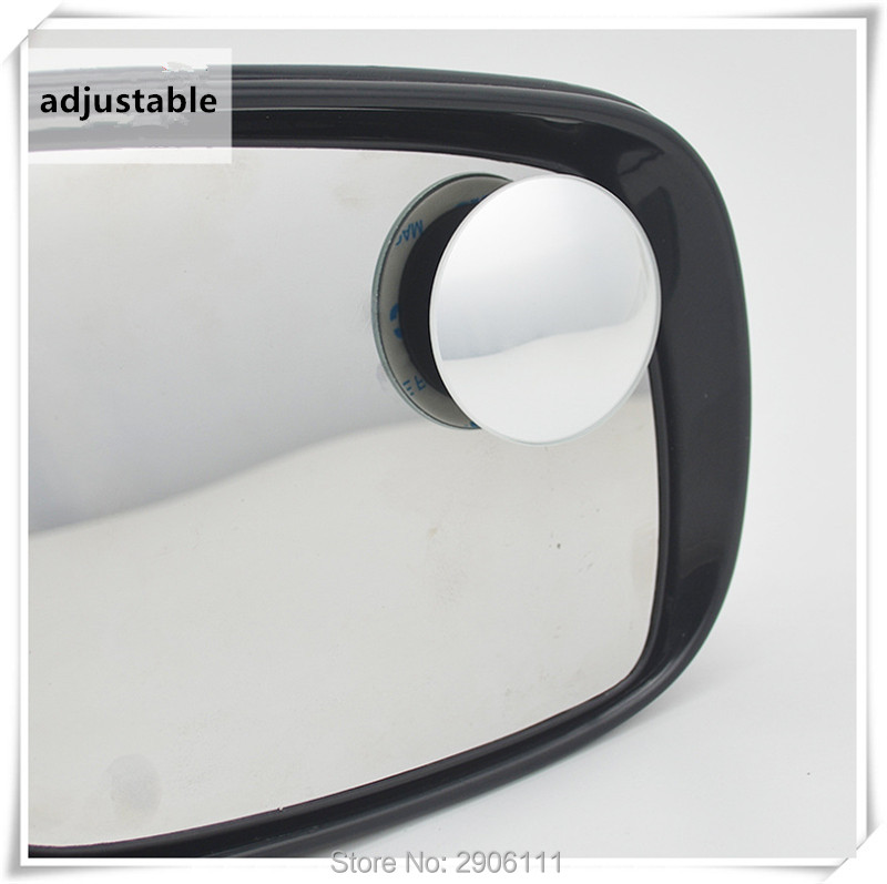 2pcs 360 Degree Car mirror Wide Angle Convex Blind Spot mirror for saab 9-3 9-5 93 95 900 9000