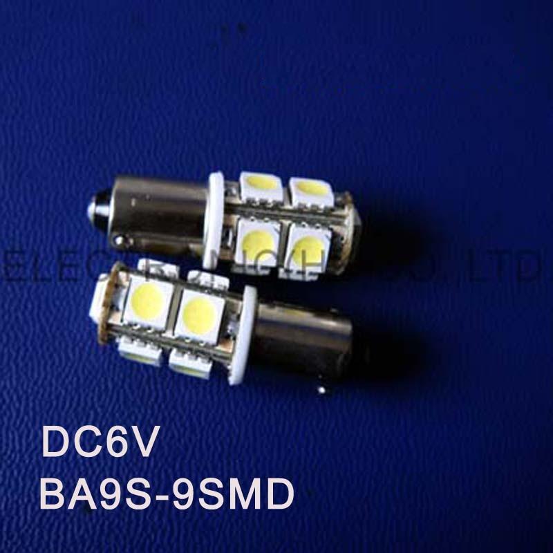 High quality DC6.3V 6V BA9S led light bulb Indicating lamp caution light Warning lights Warning Signal free shipping 50pcs/lot
