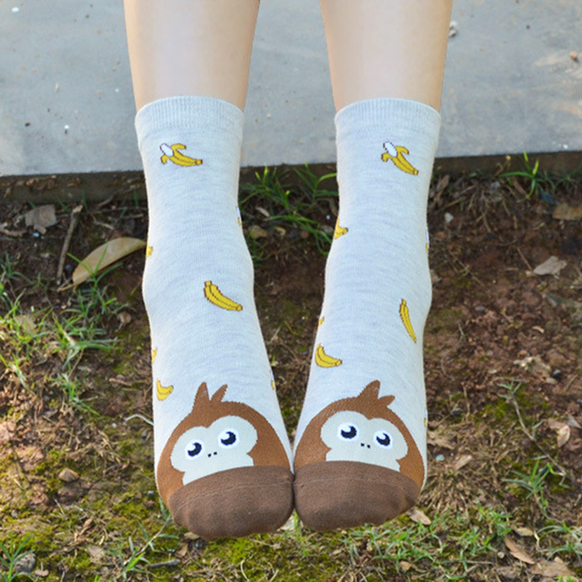 Cute Animal Cotton Socks Female Kawaii Cartoon Dog Socks Korean Women Funny Short Socks Calcetines Mujer Meias Sokken Hosiery