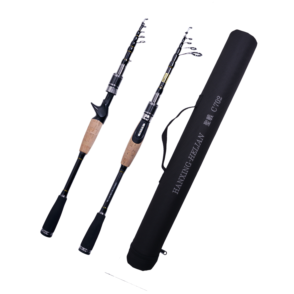 Telescopic Fishing Rod Carbon 2 1m 2 4m 2 7m M MH Power 7g 8g 10g