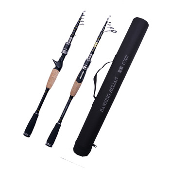 kingdom keel iii fishing rods l ml m mh high quality spinning Telescopic Fishing Rod Carbon 2.1m 2.4m 2.7m M MH Power 7g-8g/10g-30g Ultralight Portable Travel Spinning Lure Rods Casting Pole