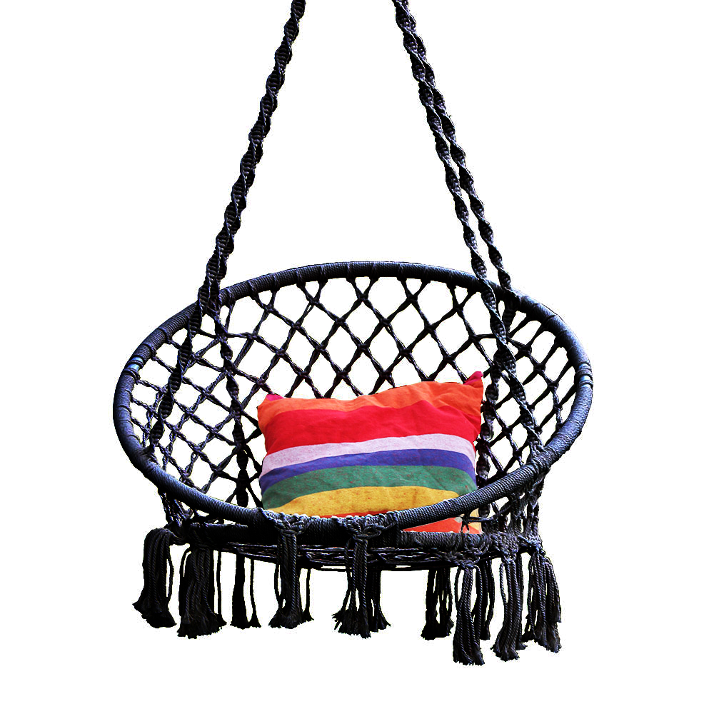 Hamaca redonda columpio silla colgante exterior muebles de interior hamaca silla para jardín dormitorio niño adulto silla de seguridad hamaca - 3