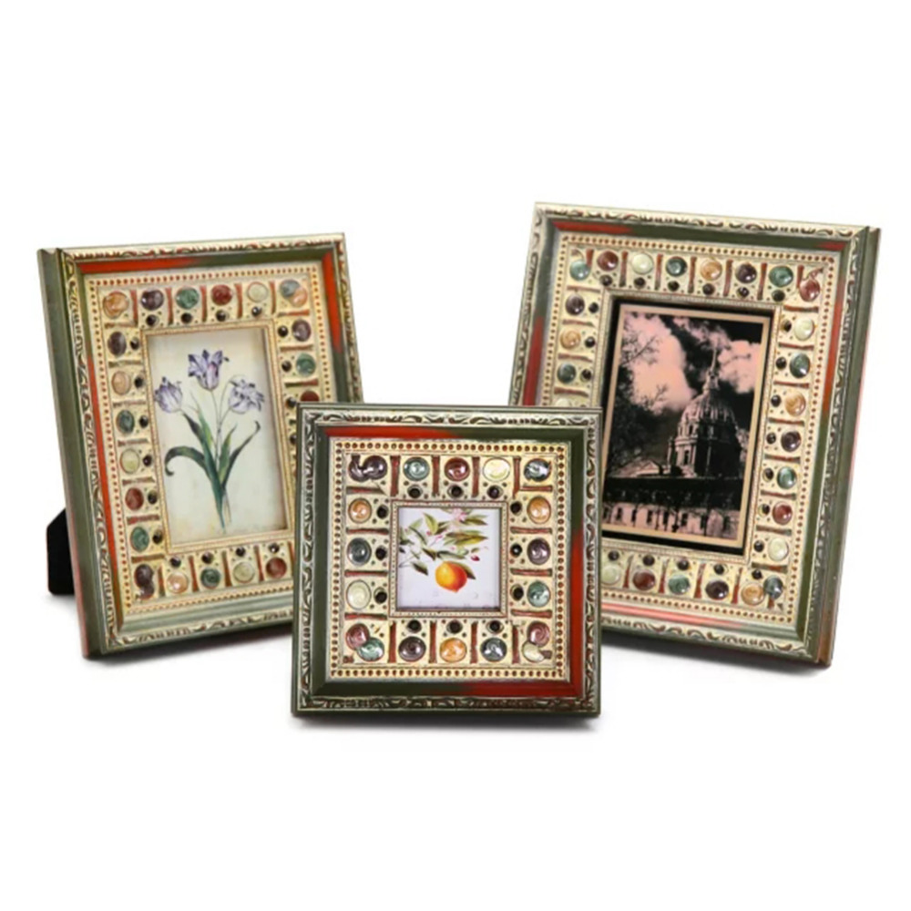 wooden retro frame handmade artifacts home decor wedding pictures frames gifts 3inch 7inchchina