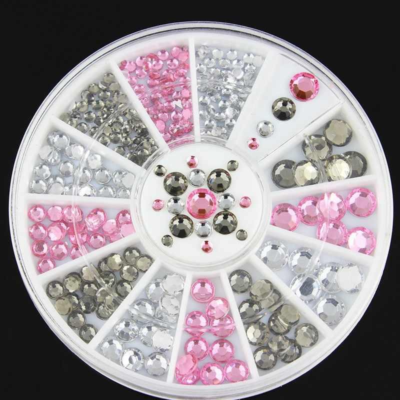 1 коробка жемчужный ломтик блестящие стразы кристалл AB не горячей фиксации стразы с плоской задней частью швейная ткань горный хрусталь камешки для украшения ногтей