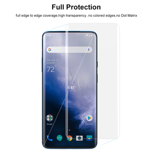 Image 3 - Screen Protector Tempered Glass For Oneplus 7 Pro with fingerprint unlock UV Glass film full cover for Oneplus 7T Pro