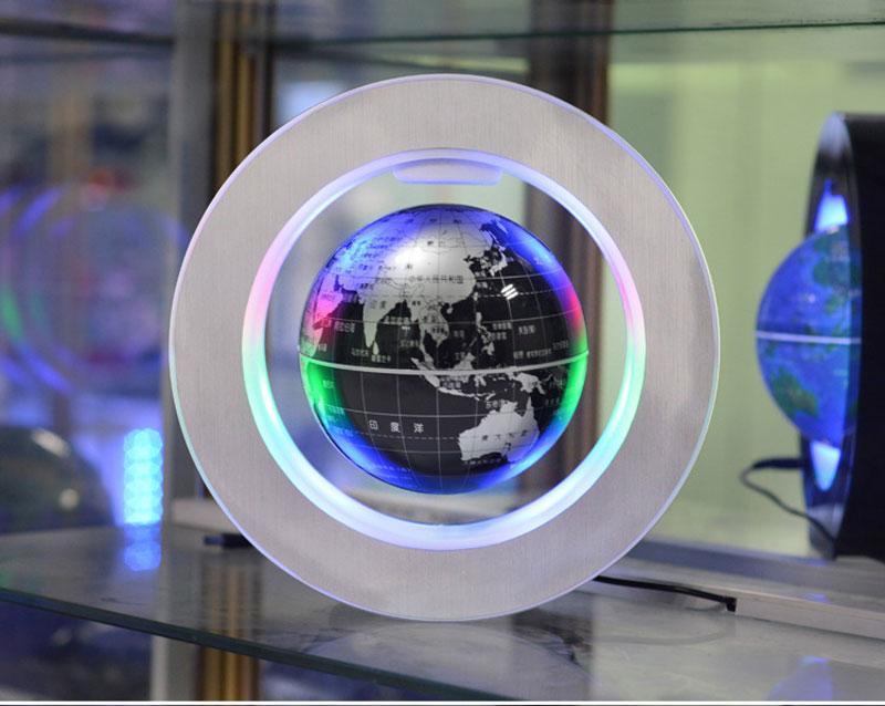 Magnetic Levitation Novelty Round LED World Map Globe Lamp Luminous Rotation Display Antigravity MagicDec Plasma Ball Light (13)