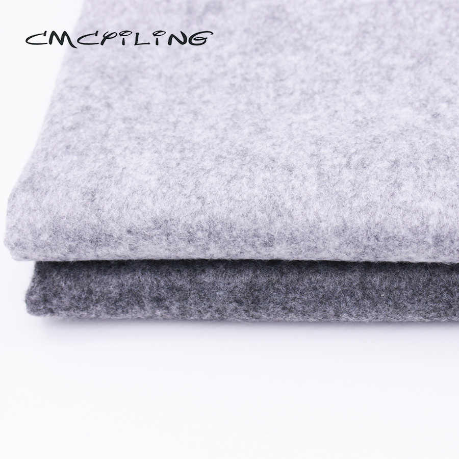 CMCYILING Gray Soft Felt Fabric For Needlework DIY Sewing Dolls Crafts 1.2 MM Thickness Polyester Cloth 45*110CM