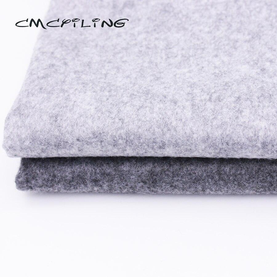 1Pc Gray Wool Felt Sheets DIY Craft Polyester Wool Blend Fabric Bag Material