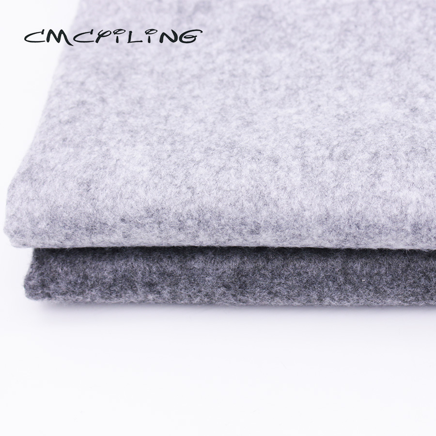 Cmcyiling cinza macio sentiu a tela para o bordado diy costura bonecas artesanato 1.2mm espessura pano de poliéster 45*110 cm