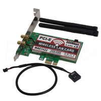 De alta Calidad de Doble Banda Bluetooth 4.0 PCI-e Express Tarjeta PCI 300 Mbps Adaptador de Red Wlan WiFi Al Por Mayor # L059 # new hot