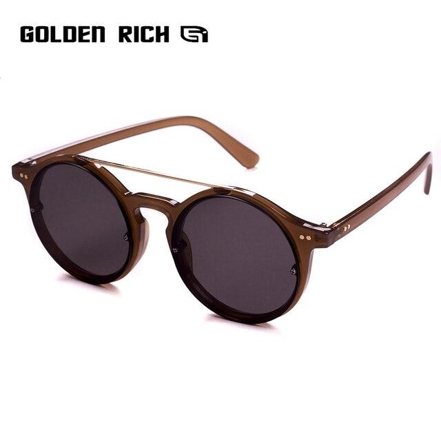 dab5db44348 Oval Vintage Sunglasses Women 2018 New Brand Designer Black Lens Female  Retro Sun Glasses UV400 GOLDEN