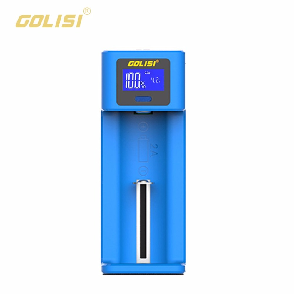 Golisi Smart Charger LCD Display AA AAA Rechargeable Battery Charger 2A Fast Charging for 18650 21700 26650 Ni-mh Ni-cd Battery