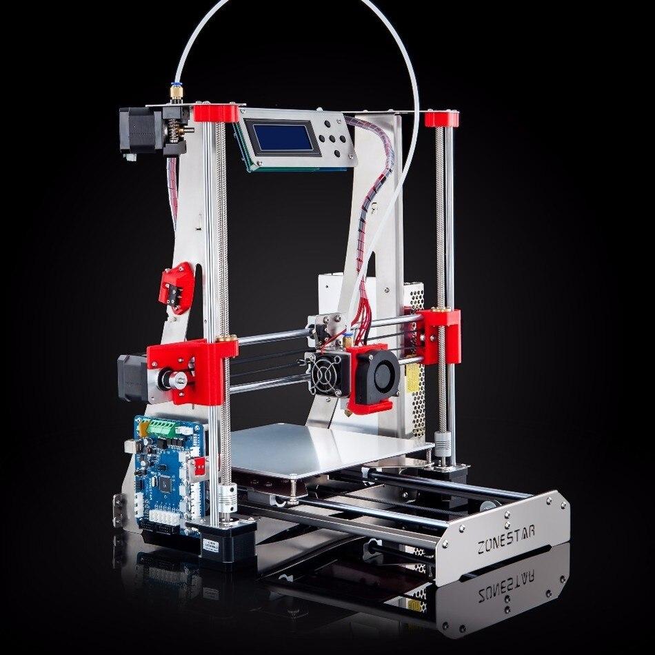 En option Double Extrudeuse Mixte Couleur Full Metal Reprap i3 3D Imprimante DIY Kit Auto Nivellement Facile Assembler Livraison SD Carte gratuite
