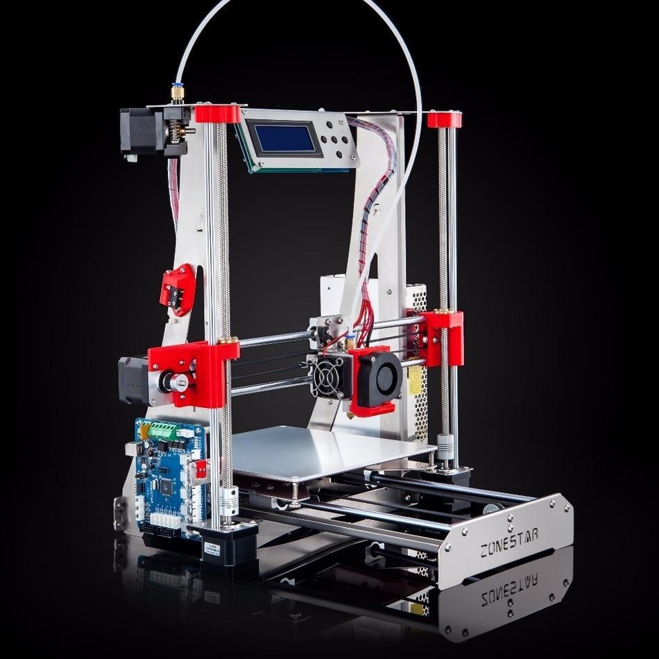 ตัวเลือกเครื่องอัดรีดคู่สีผสมโลหะเต็ม R Eprap i3 เครื่องพิมพ์ 3D DIY ชุดอัตโนมัติ Leveling ง่ายประกอบฟรีการจัดส่งการ์ด SD