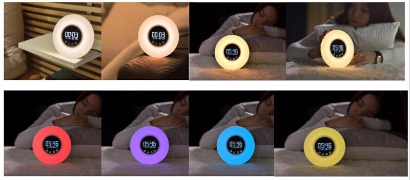 Rádio FM Simulação Digital Display Led Night