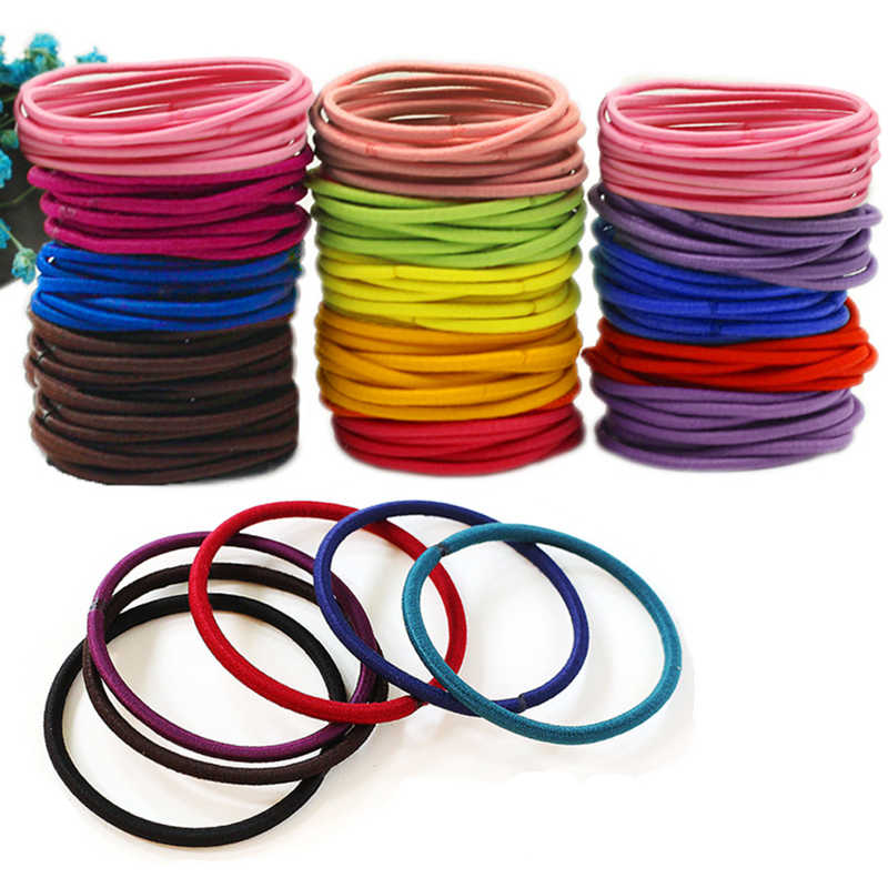 Girls Elastics Rubber Band Ties/Rings/Ropes Hair Accessories Scrunchie Headdress Mix Color for Women 3 Sizes(30PCS/50PCS/100PCS)