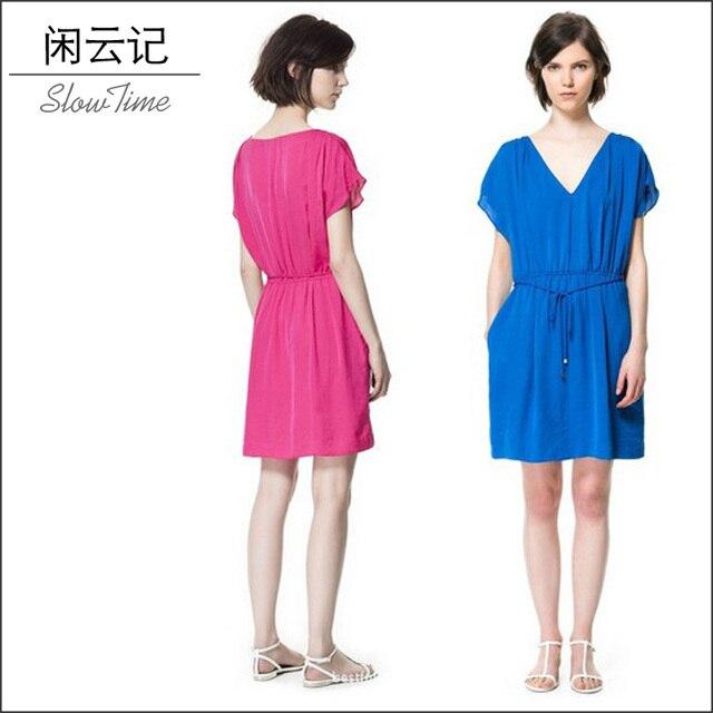Z slim short-sleeve chiffon one-piece dress fashion summer fashion new arrival