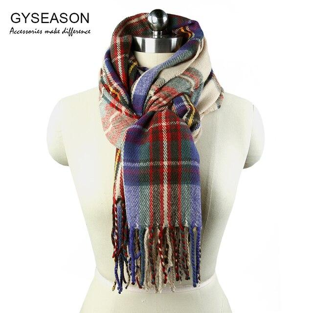 1f4f7f04706 Plaid Sjaal Voor Vrouwen Herfst en Winter Warme Sjaal Wrap bruin Zachte  Klassieke Fringe Ontwerp Lange