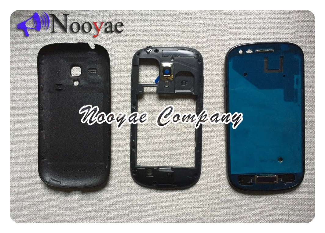 Blue/White Full Housing Front Frame home button + Middle Frame + Rear <font><b>Back</b></font> <font><b>Battery</b></font> Cover For Samsung Galaxy S3 mini <font><b>i8190</b></font> image
