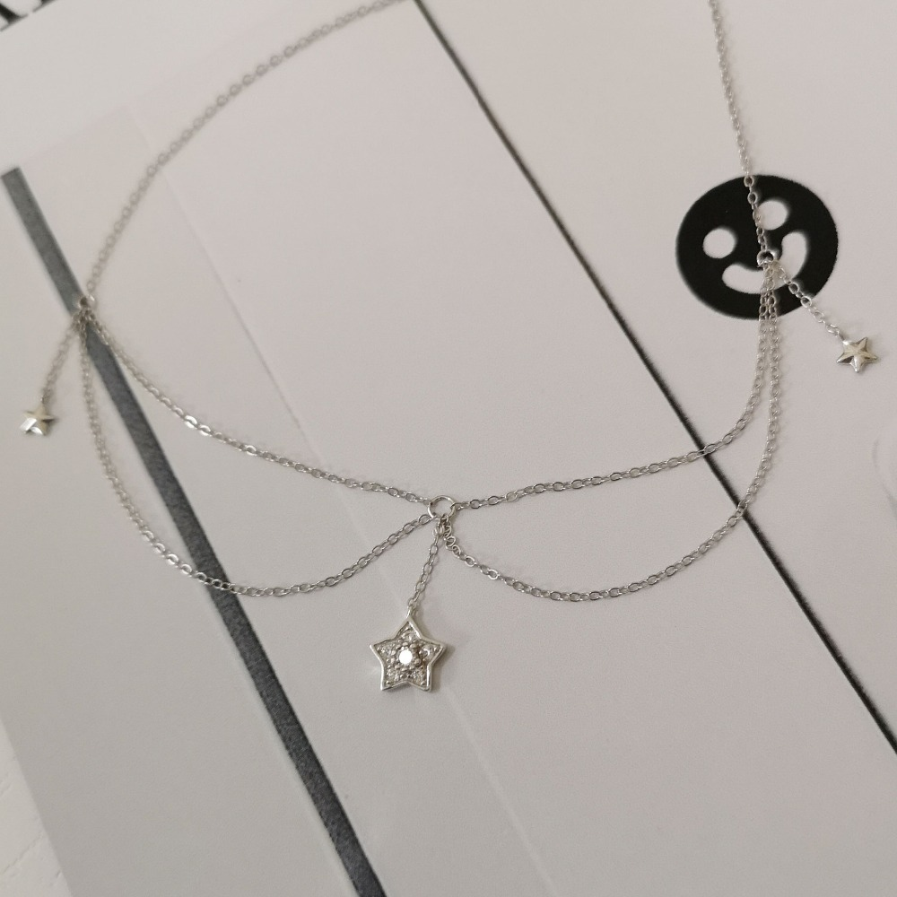 ZTUNG MKP15 women fine jewelry fashion and cute gentlewoman necklace 925 silver pendant as a gift