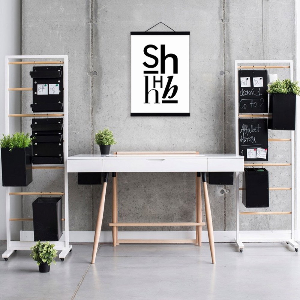 Schwarz Weiß Alphabet Moderne Typografie Minimalistischen Brief A4 Poster  Hipster Leinwand Gemälde Schlafzimmer Wandkunst Dekor Geschenke In Schwarz  Weiß ...