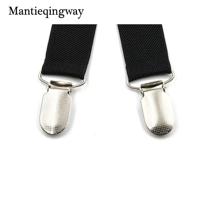 Mantieqingway Black Suspenders for Men Skinny Brace Business Trousers Pants Strap for Wedding Suspenders Braces Belt Strap