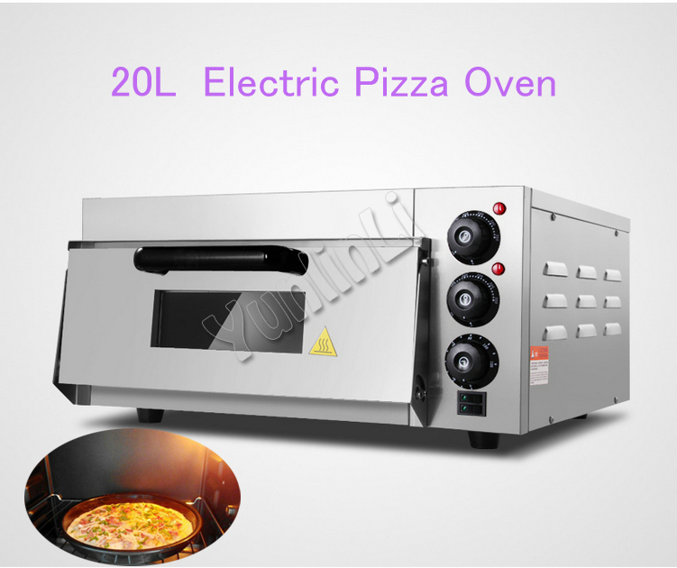 20L Electric Pizza Oven Stainless Steel Oven Baking Bread Electric Single Bread Oven Pizza Oven Machine EP-1ST 3000w stainless steel commercial electric pizza oven with timer 2 layer making bread pizza cake baking oven