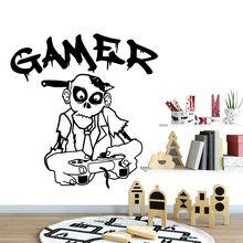 Cute gamer Wall Art Decal Stickers Pvc Material for Living Room Company School Office Decoration Home Decor