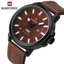Luxury Brand NAVIFORCE Men Sports Luminous Watches Men's Quartz Date Clock Army Military Leather Wrist Watch Relogio Masculino