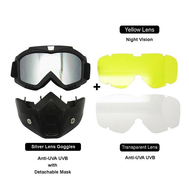 26ada7d79064ac Moto Visage Masque Casque Lunettes 3LS Kit Lentille Échange Équipement De  Protection Rembourrage Nuit Vision Vélo