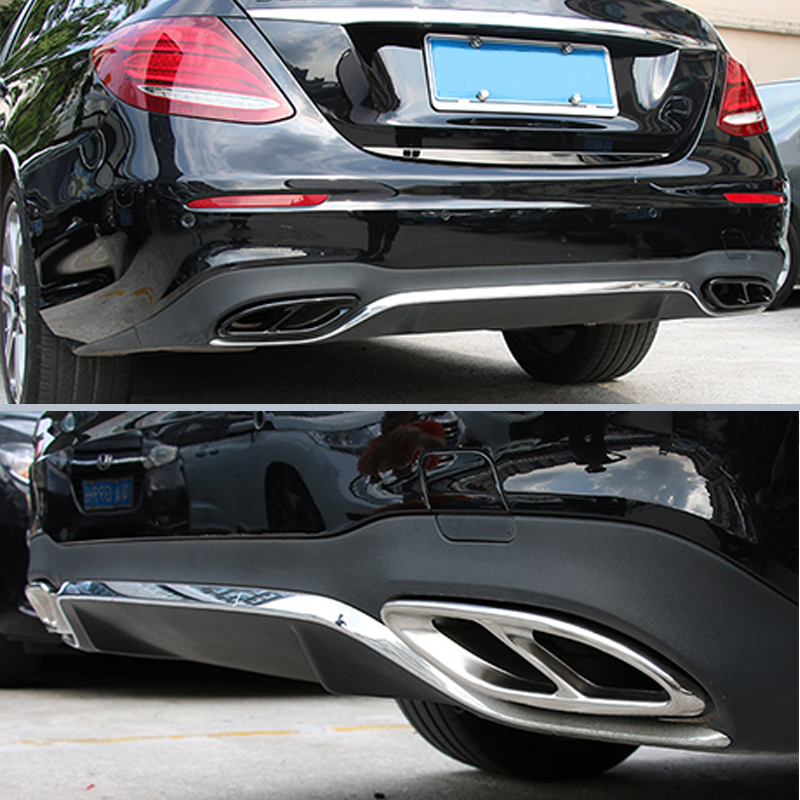 Car Accessories Exhaust Pipe Tail Cover Trim For Mercedes W205 Benz E-Class W213 GLC C A Class A180 A200 W176 2015 2016 2017 AMG