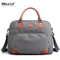 Wellvo Men Large Travel Duffle Canvas Luggage Handbag Weekend Overnight Portable Bag Black Trip Tote Solid Crossbody Bags XA257C