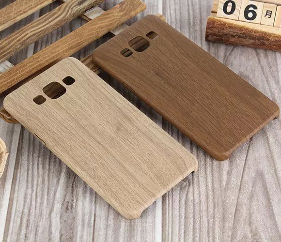 Retro Wooden Pattern For Samsung Galaxy A3 A5 A7 PU Leather Cover Wood Grain Soft Back