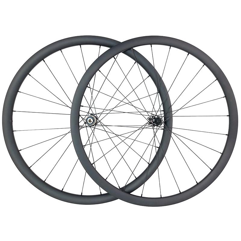 1300g 700c 30mm tubeless road disc asymmetric carbon wheels TAPELESS 25mm wide U shape wheelset QR