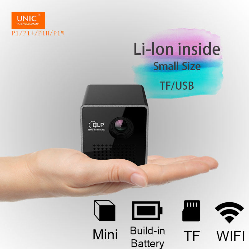 UNIC Luxury Smart Pico Wireless Projecter Mini Beam Projector Pocket Home Theater 1080P HD LED DLP