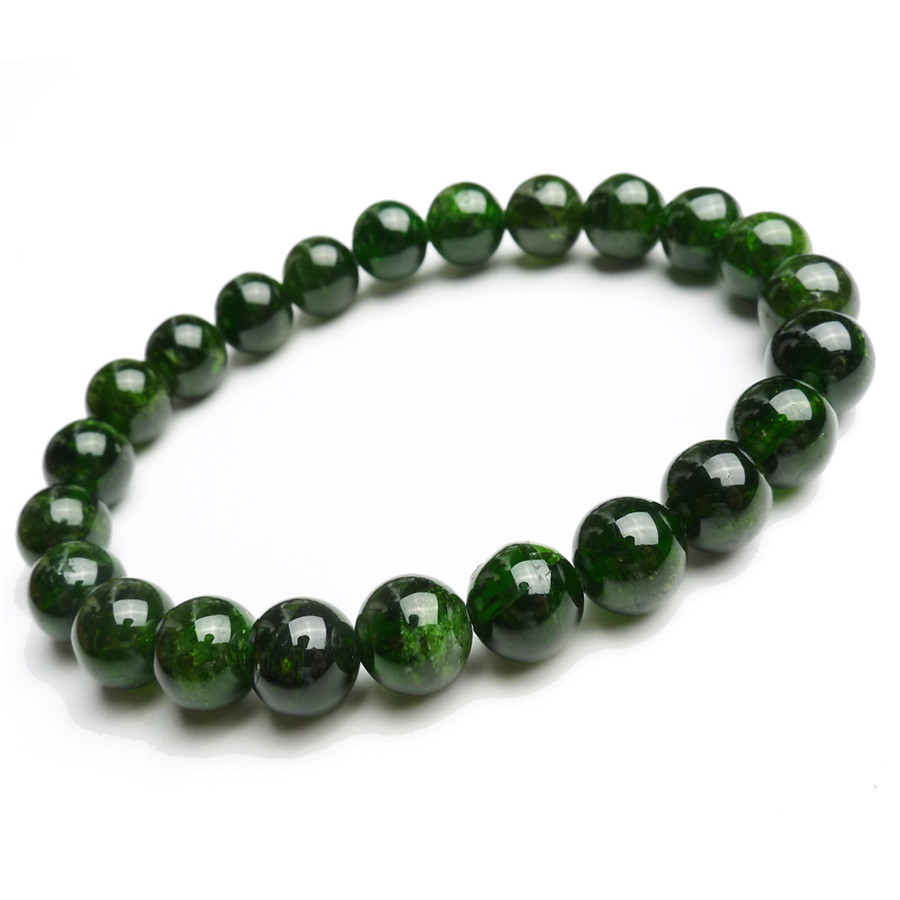 8.5mm Genuine Natural Green Chrome Diopside Gems Stone Transparent Crystal Quartz Round Bead Bracelet Free Shipping Just One8.5mm Genuine Natural Green Chrome Diopside Gems Stone Transparent Crystal Quartz Round Bead Bracelet Free Shipping Just One