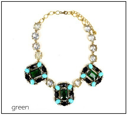 Arilady 2013 fashion statement necklace blue/pink color choker necklace brand new