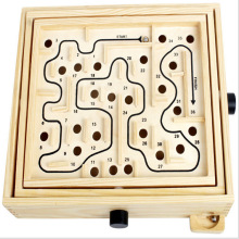 Golden Key Large 30*26*7CM Wooden Labyrinth Board Game Ball In Maze Puzzle Handcrafted Toys  Children Educational Toys