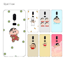 Uyellow Cute Crayon Shin chan Silicone Soft TPU Phone Case For One Plus 7 Pro 6 6T 5 5T Shell Fashion Fundas Printed Cover Coque