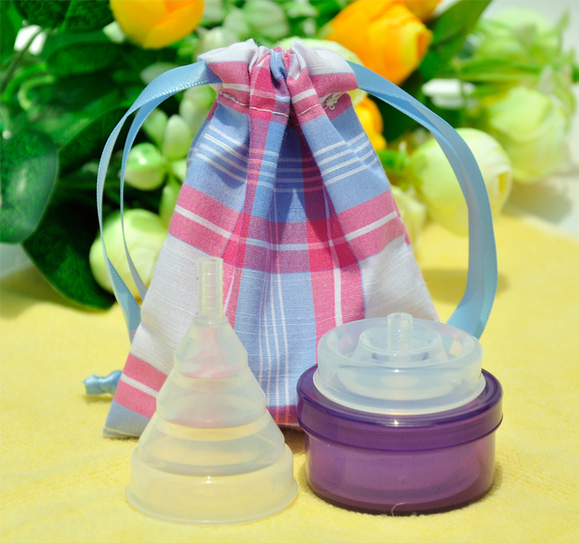 2pcs/lot Bassrose coupe menstruelle silicone copa menstrual cup feminine menstrual cup menstruelle menstrual collapsible cup