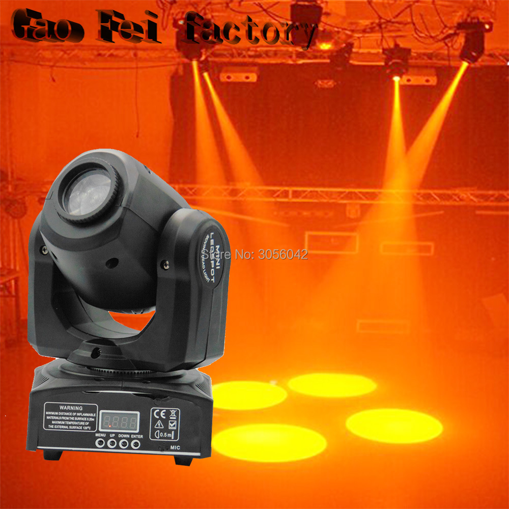LED Inno Pocket Spot Mini Moving Head Light 10W DMX dj 8 gobos effect stage lights цена