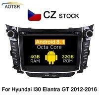 IPS Screen Android 8.1 Car Radio GPS stereo For Hyundai I30 Elantra GT 2012 2013 2014 2015 2016 Car DVD Player Head unit 8 Core