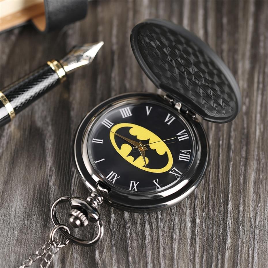 pendant watch, batman pocket watch, birthday gifts for boys, (6)