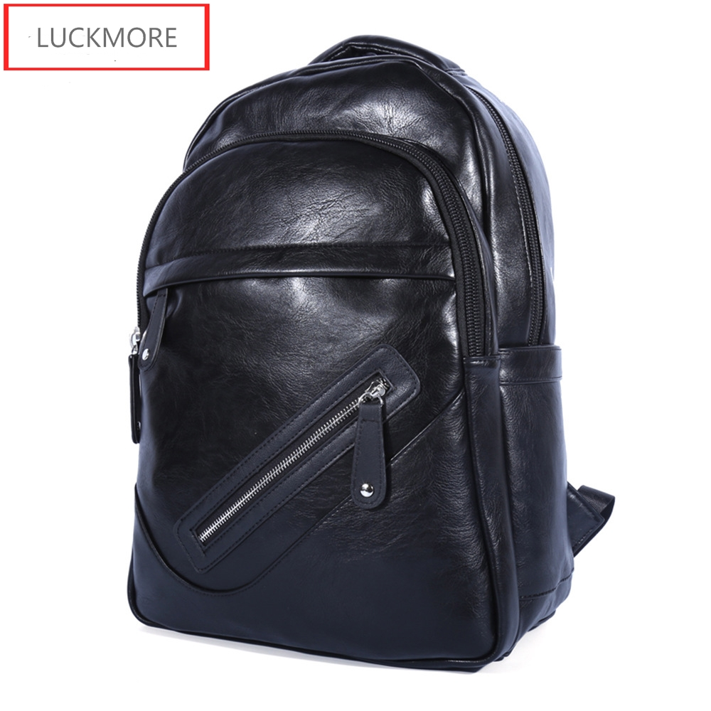 High Quality Brand Design Vintage Style PU Leather Men Backpacks For College Preppy Style School Backpack For Laptop Bag new 2016 brand high quality leather backpack men casual laptop backpacks college style school book bags mochila rucksack 112zs