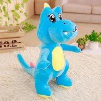 about 50cm cartoon blue dinosaur plush toy soft doll kid's toy Christmas gift b1555