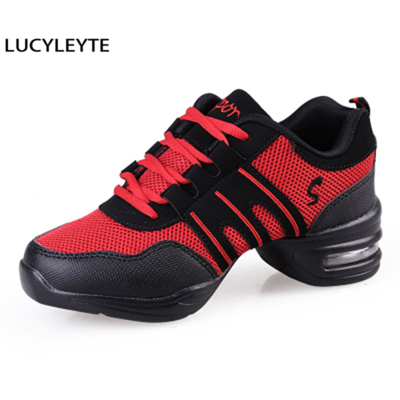 LUCYLEYTE Sports Feature Soft Outsole Breath Dance Shoes Sneakers For Woman Practice Shoes Modern Dance Jazz Shoes Sneakers