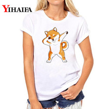 Women T-shirt Funny Dog 3D Print T Shirt Short Sleeve White hip hop Tee Summer Tops  plus size women graphic t shirts new in stock nfc20 24s05