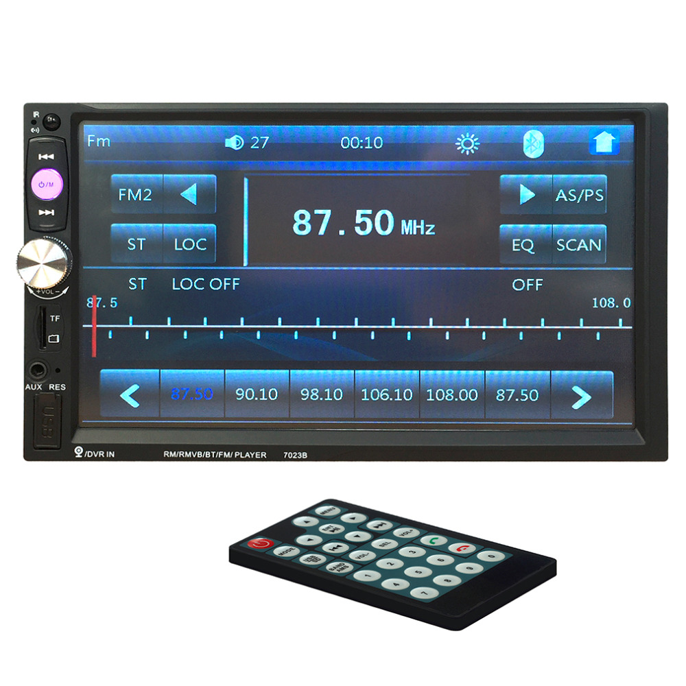 High Quality 7023B Auto Car Double Din Car DVD Player 7 Inch Touch Scrren Media Radio