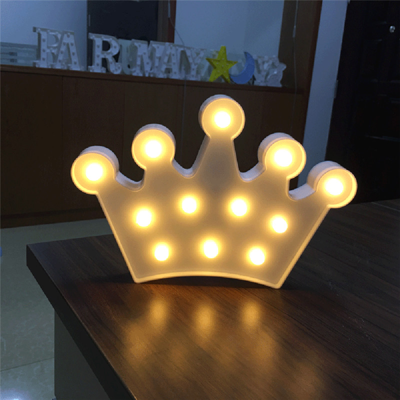 Fairy Gift Crown shape led night lamp Battery Plastic self stand Lights DIY Party decoration romantic lamps Lighting Crown sale